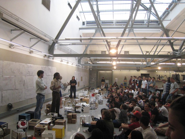 First year Final Review at Syracus University, my alma matter, 2009