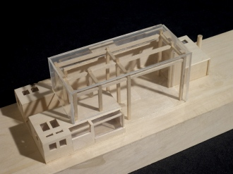 Incomplete house from Graduate Design Studio II.