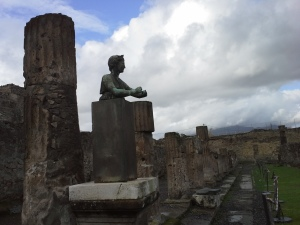 Pompeii, sculpture of Diana amongst temple ruins