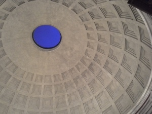 Rome, Pantheon ceiling at dusk