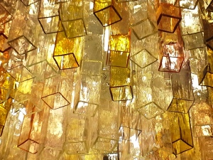 Florence, Stained glass light fixture detail