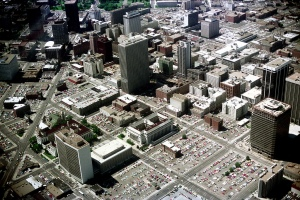 downtown aerial 1976